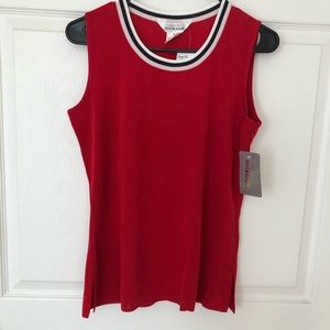 MISOOK Red Sleeveless Top